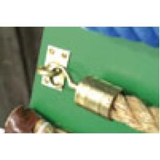 Brass Hook & Eye Rope Fixing